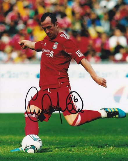 Charlie Adam, Liverpool & Scotland, signed 10x8 inch photo.